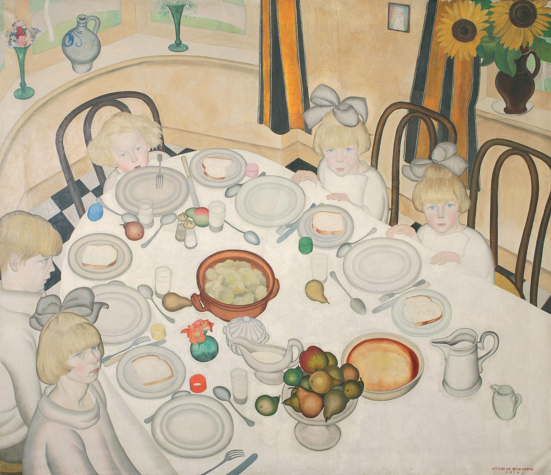LA TABLE DES ENFANTS, 1919 - Gustave Van De Woestyne (1881-1947)